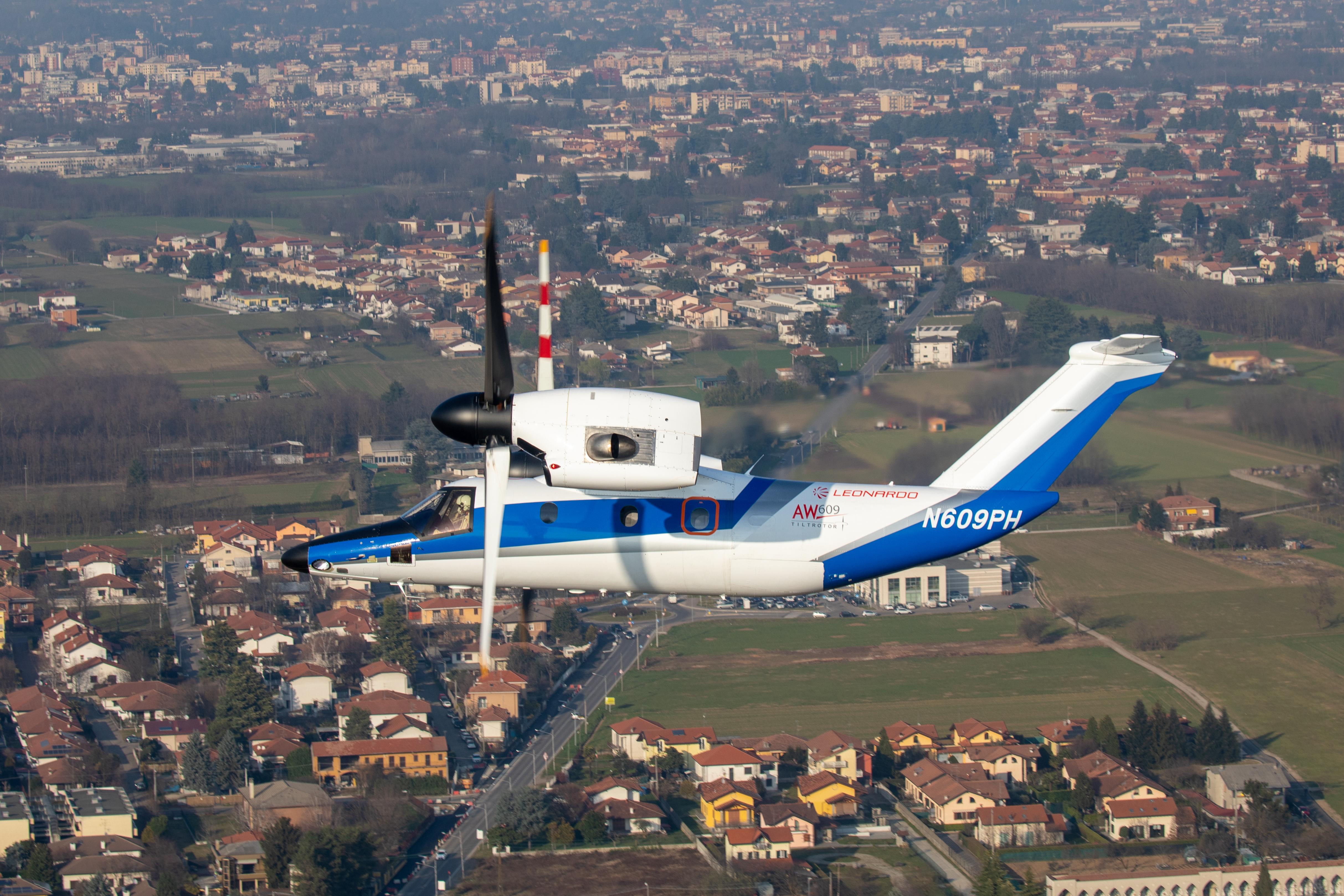 Leonardo: AW609 AC4 tiltrotor moved to Italy