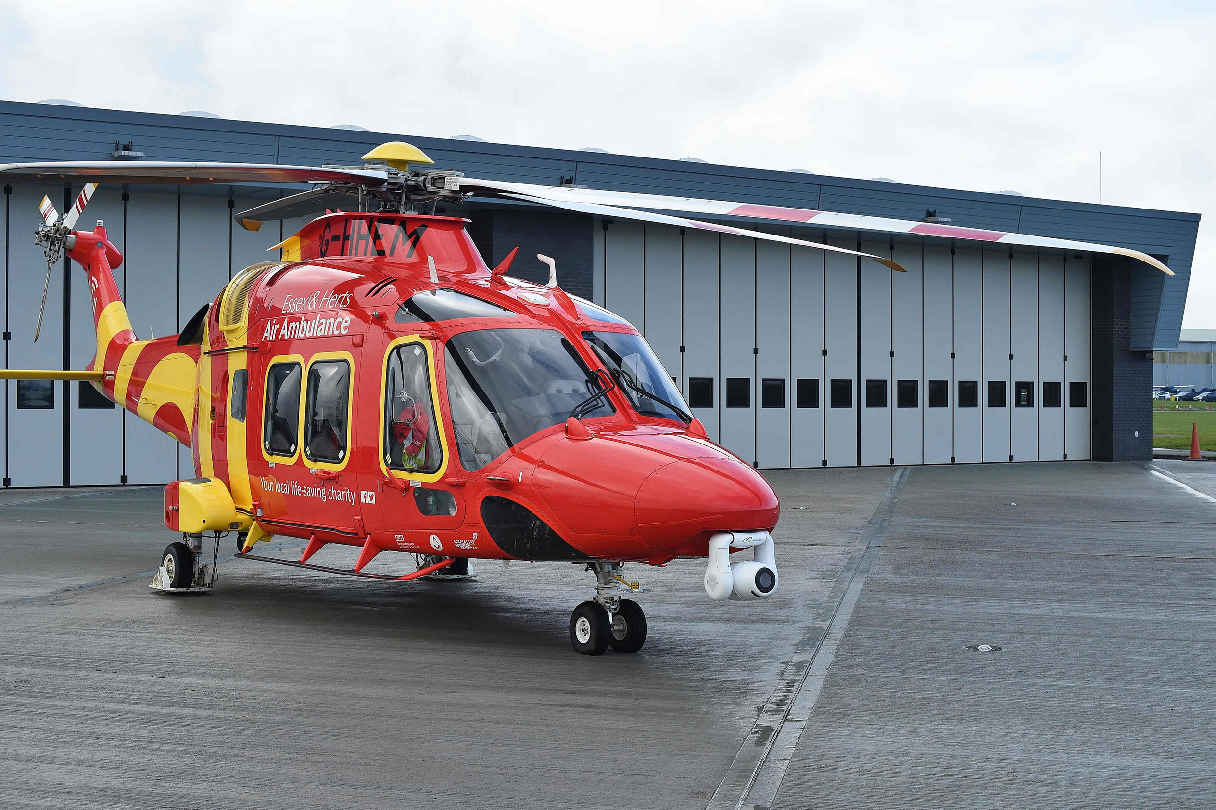 Essex & Herts Air Ambulance flies first mission from new base