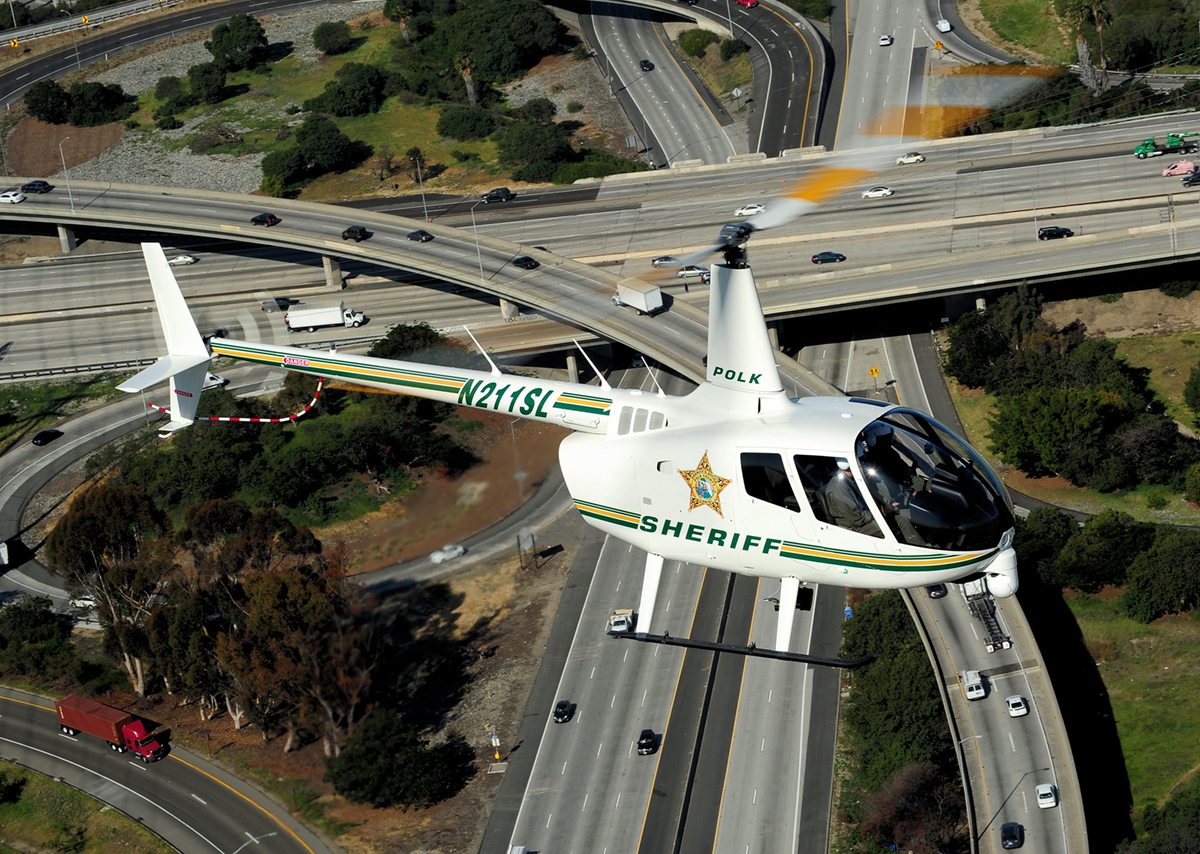 Robinson showcases Polk County's R66 Police Helicopter at APSCON